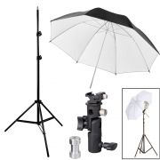 Kit Flash Speedlight - Tripe  Sombrinha Dif Rebat Suporte Ls24