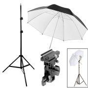 Kit Flash Speedlight - Tripe  Sombrinha Dif Rebat Suporte Ls27