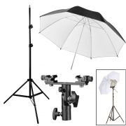 Kit Flash Speedlight - Tripe  Sombrinha Dif Rebat Suporte Duplo Ls31