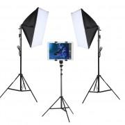 Kit Youtuber LED 120W Softbox 40x60 Tripé Tablet SP14