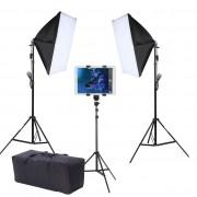 Kit Youtuber LED 120W Softbox 50x70 Tripé Tablet SP14 Bag