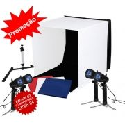 Mini Estudio Fotografico Portatil 60x60x60 - 4x50W Halogena