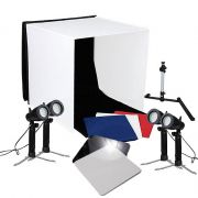 Mini Estudio Fotografico Portatil 60x60x60 - 4x5W LED e Placa Reflexão