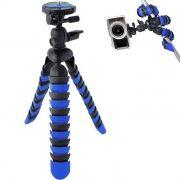 Mini Tripé de Mesa Flexível - TT281 - 28cm Azul
