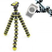Mini Tripé de Mesa Flexível - TT813 - 26,5cm Amarelo