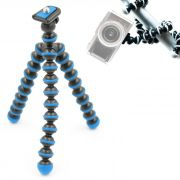 Mini Tripé de Mesa Flexível - TT813 - 26,5cm Azul Claro