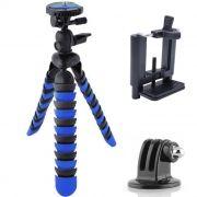 Mini Tripé Flexível Gopro Smartphone - TT281 - 28cm Azul