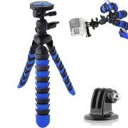 Mini Tripé Flexível Gopro - TT281 - 28cm Azul