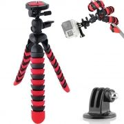 Mini Tripé Flexível Gopro - TT281 - 28cm Vermelho