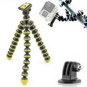 Mini Tripé Flexível GoPro - TT813 - 26,5cm Amarelo