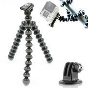 Mini Tripé Flexível GoPro - TT813 - 26,5cm Cinza