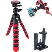 Mini Tripé Flexível Smartphone - TT281 - 28cm Vermelho