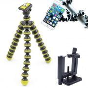 Mini Tripé Flexível Smartphone - TT813 - 26,5cm Amarelo