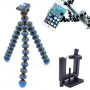 Mini Tripé Flexível Smartphone - TT813 - 26,5cm Azul