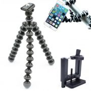 Mini Tripé Flexível Smartphone - TT813 - 26,5cm Cinza