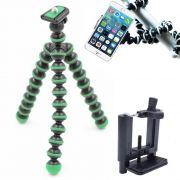 Mini Tripé Flexível Smartphone - TT813 - 26,5cm Verde
