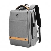 Mochila Notebook até 15.6 com entrada USB - Golden Wolf GB00378 Cinza