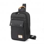 Mochila Tablet 11 entrada Fone Sling Bag - Golden Wolf GXB131 Preto