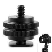 Parafuso Adaptador para Sapata Canon Nikon - rosca 1/4