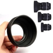Parassol de Borracha 3Way para Objetiva DSLR - 62mm - G/A, Normal e Tele