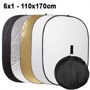 Rebatedor e Difusor Circular 5x1 para Estúdio - 110x170cm