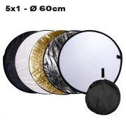 Rebatedor e Difusor Circular 5x1 para Estúdio - 60cm