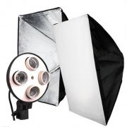 Softbox Light 50x70 com Bocal para 04 Lâmpada