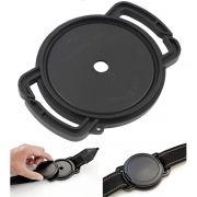 Porta tampa de proteção de lentes e objetivas - 58mm
