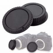 Tampa de proteção para corpo e objetiva DSLR - Canon