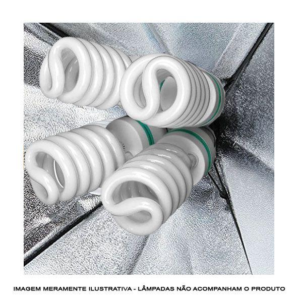 Adaptador Iluminacao Estudio Quad 04 Lampadas Bocal E27  - Diafilme Materiais Fotográficos