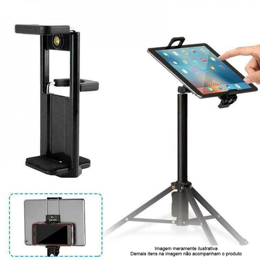 Adaptador Tablet Celular Montagem em Tripé Monopé ou Bastão - BJ024  - Diafilme Materiais Fotográficos
