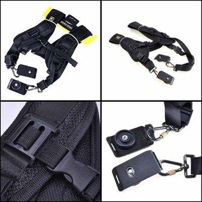 Alça Dupla para Câmera DSLR tipo Quick Strap - SB17  - Diafilme Materiais Fotográficos