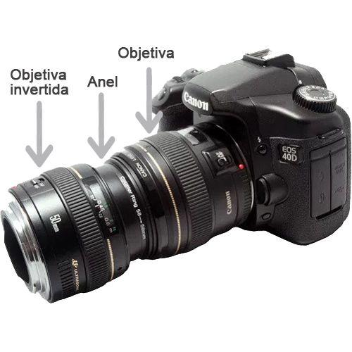 Anel Adaptador Coupling Ring Super Macro - 55-55mm  - Diafilme Materiais Fotográficos
