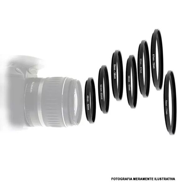 Anel Adaptador de Redução Step Down - 82x77mm  - Diafilme Materiais Fotográficos