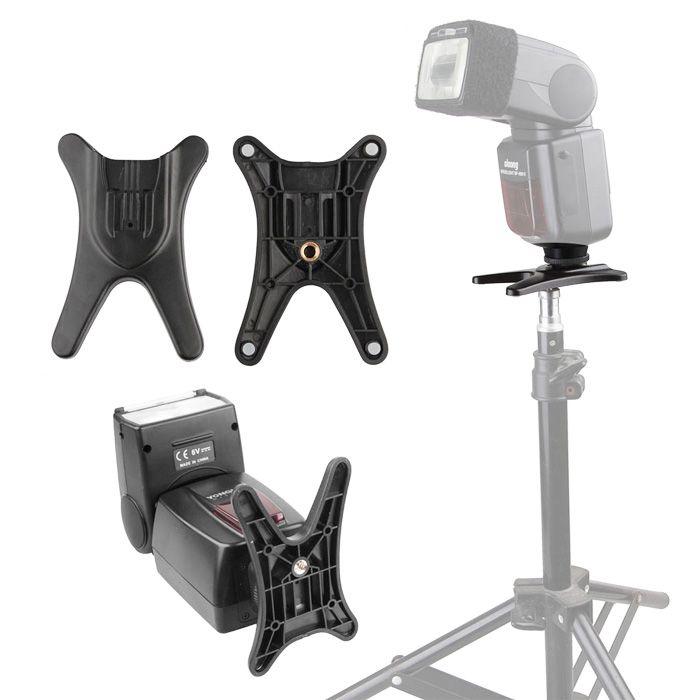 Base Suporte para Flash Dedicado Speedlight ou Iluminador Led  - Diafilme Materiais Fotográficos