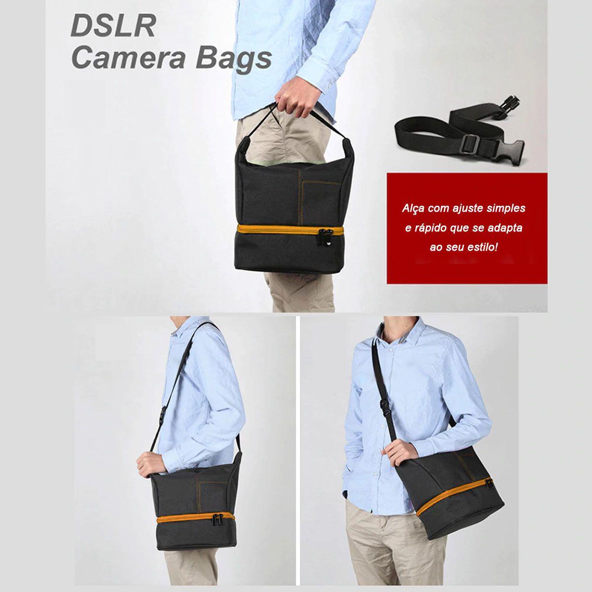 Bolsa Câmera DSLR ou Vídeo - ER 7513 LJ com Kit de Limpeza EC01  - Diafilme Materiais Fotográficos