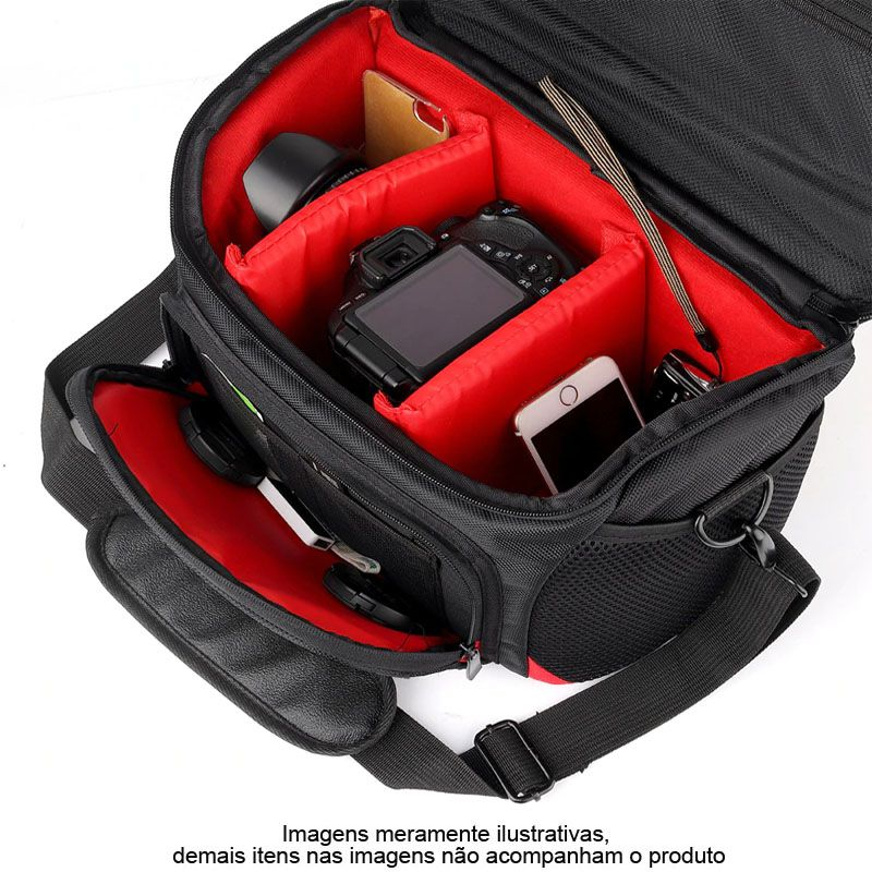 Bolsa de Ombro Câmera DSLR Canon 017EL - C31XP21XA20CM  - Diafilme Materiais Fotográficos