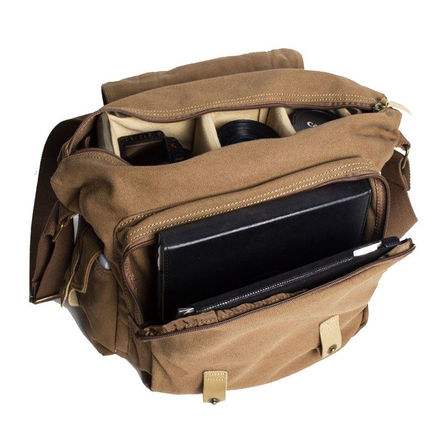 Bolsa de Ombro DSLR Tablet - Voilamart F1 com Kit de Limpeza EC05  - Diafilme Materiais Fotográficos