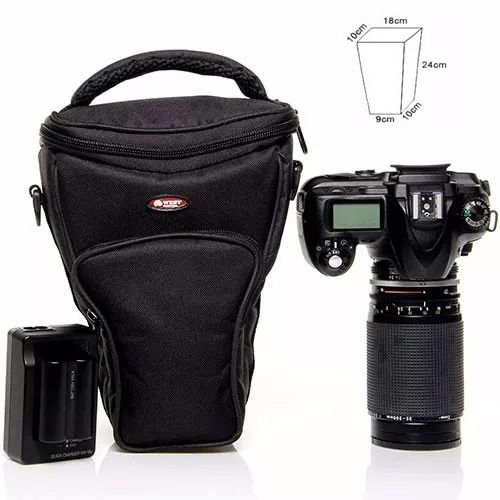 Bolsa para Camera DSLR com Tele Objetiva - West Reflex II - C18/9xP10xA24cm  - Diafilme Materiais Fotográficos
