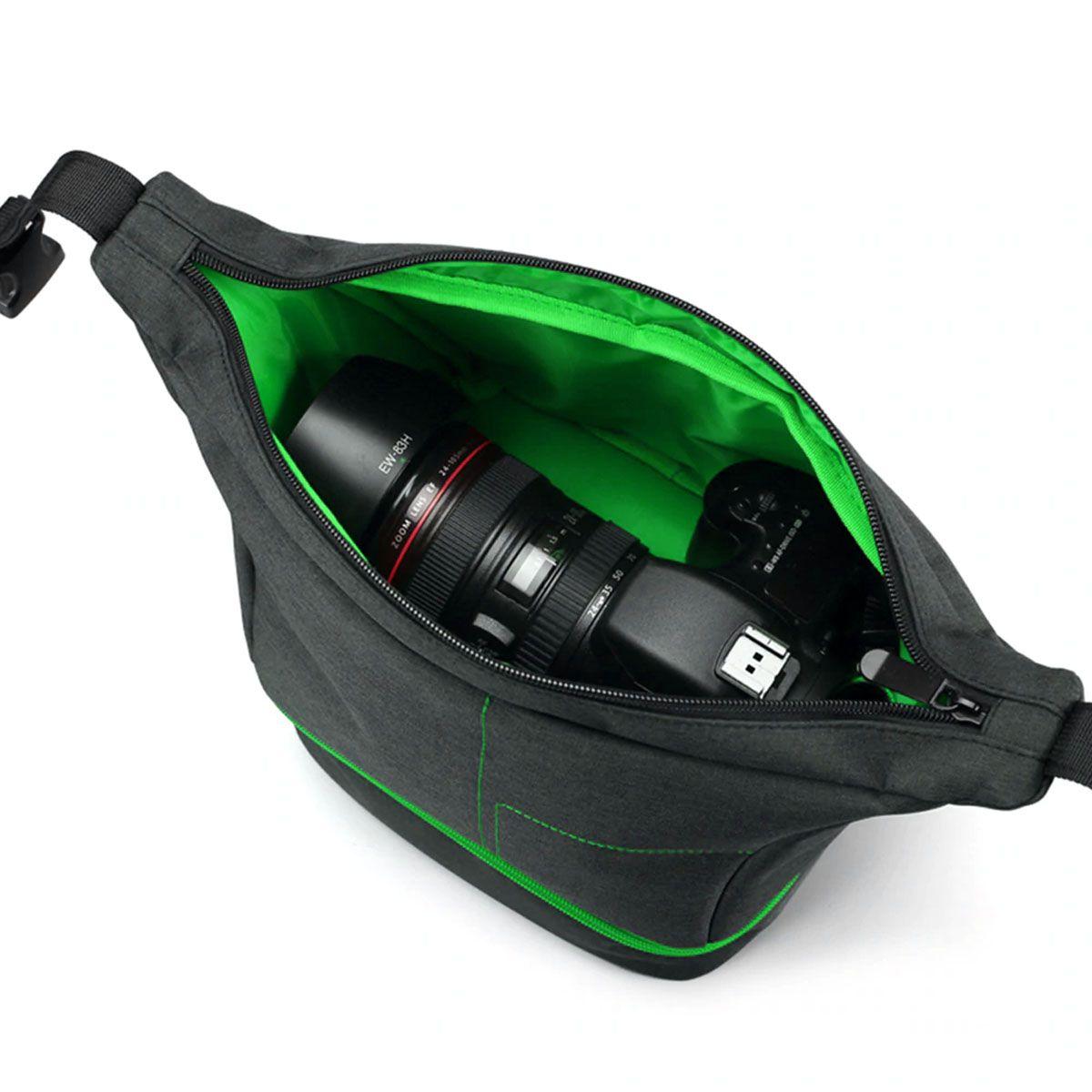 Bolsa para Câmera DSLR ou Vídeo - ER 7513 - C24xP19xA27cm  - Diafilme Materiais Fotográficos
