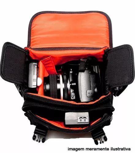 Bolsa para Câmera DSLR ou Vídeo - West Olimpic II - C25xP13xA18cm  - Diafilme Materiais Fotográficos