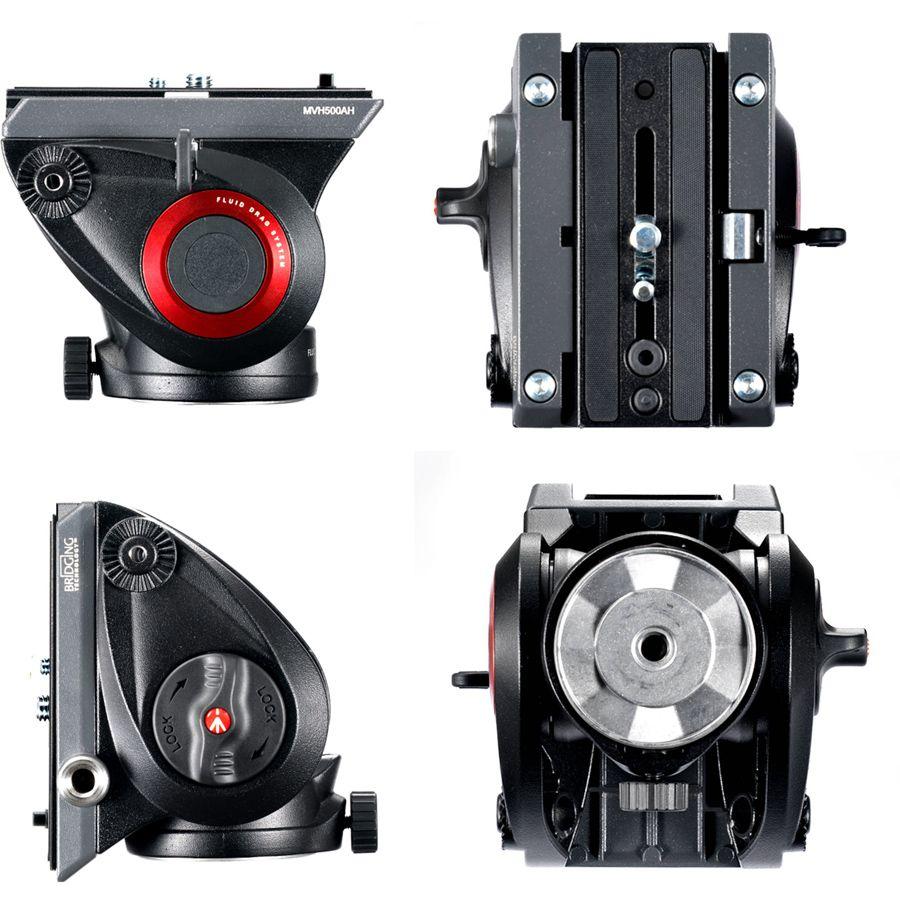 Cabeca Fluida para Tripe DSLR ou Video - Manfrotto MVH500AH Pro Video - 5,0kg  - Diafilme Materiais Fotográficos