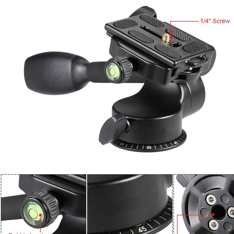 Cabeça Fluida para Tripe DSLR ou Video - Q08 Video - 4,0kg  - Diafilme Materiais Fotográficos
