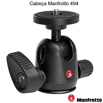 Cabeca Mini Ball Head para tripe - Manfrotto 494 - 4,0Kg  - Diafilme Materiais Fotográficos