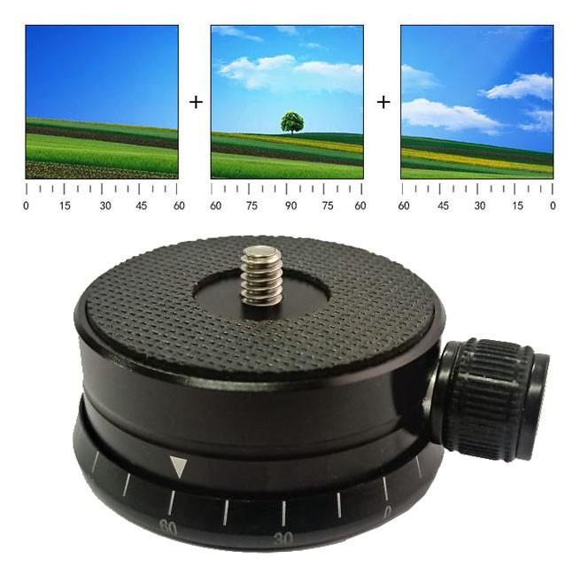 Cabeça Panorâmica 360 graus para Tripé  - Diafilme Materiais Fotográficos