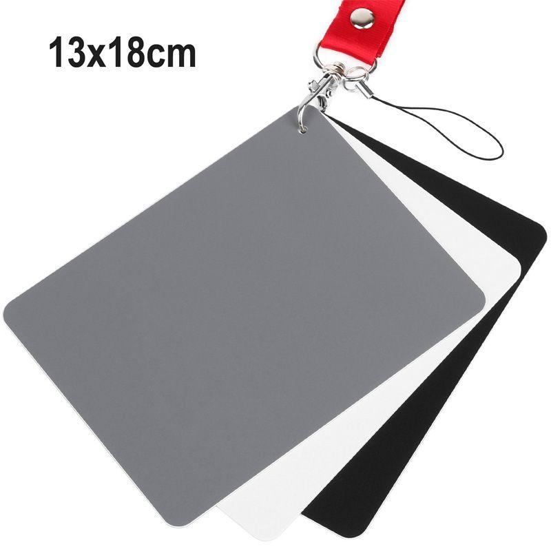 Cartão Cinza 18% 3 Em 1 - Balanço De Branco Fotometria Estudio 13x18cm  - Diafilme Materiais Fotográficos