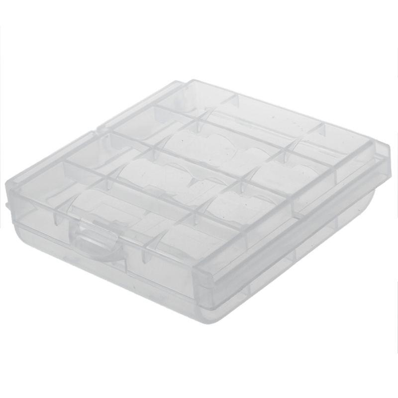 Case para bateria AA e AAA - para até 04 pilhas  - Diafilme Materiais Fotográficos