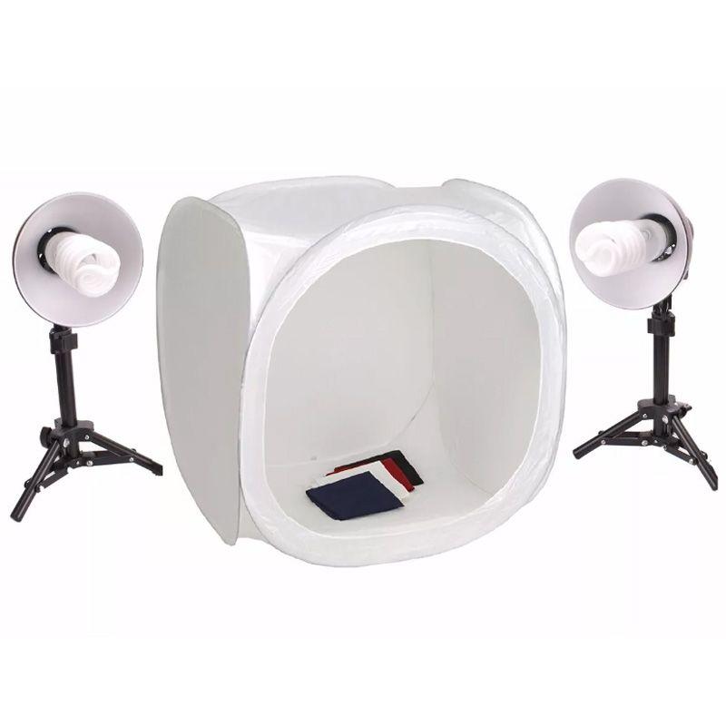 Kit Tenda Difusora Portátil 80CM Iluminador FV414 2X65W  - Diafilme Materiais Fotográficos