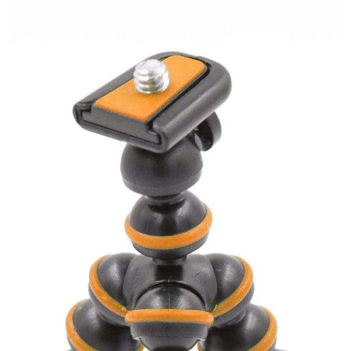 Mini Tripé de Mesa Flexível - TT813 - 26,5cm Laranja  - Diafilme Materiais Fotográficos