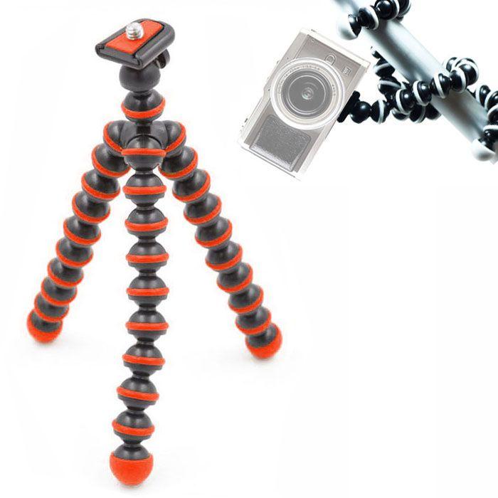 Mini Tripé de Mesa Flexível - TT813 - 26,5cm Vermelho  - Diafilme Materiais Fotográficos